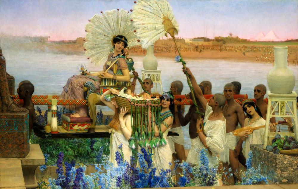 La découverte de Moïse. Sir Lawrence Alma-Tadema - 1904