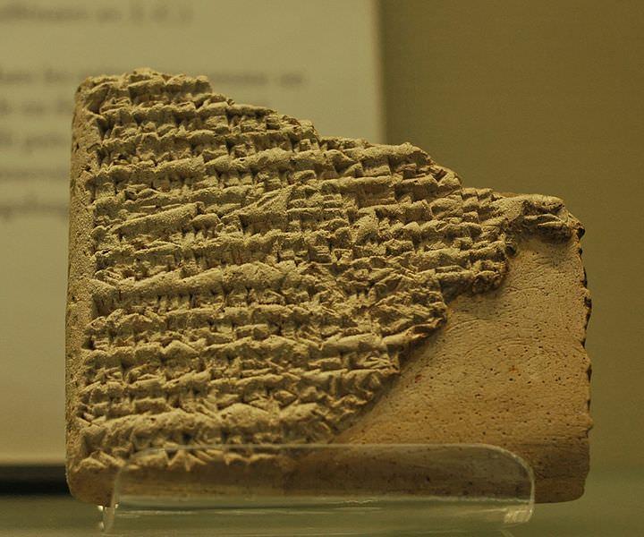 Relation historique concernant la naissance merveilleuse de Sargon d'Akkad et ses démêlés avec son maître, le roi de Kish. Musée du Louvre.